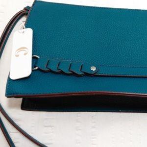 Charming Charlie Clutch Handbag Turquoise Purse
